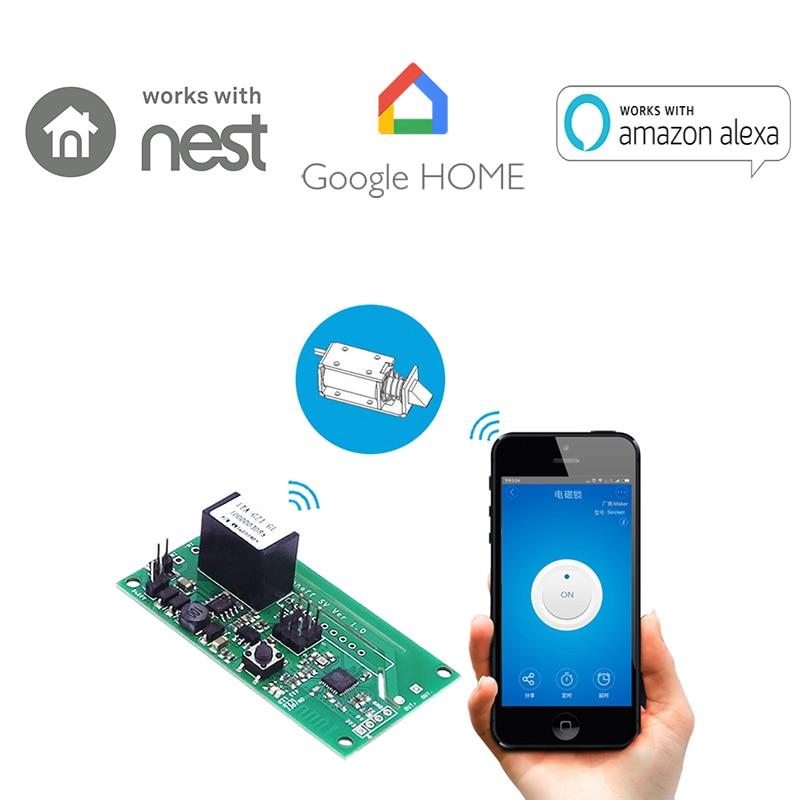 Sonoff sv tensão segura wifi módulo interruptor sem fio cronometrando apoio desenvolvimento secundário 5-24 v para ios android casa inteligente
