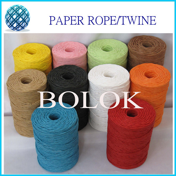 10 kinds color 100yards/spool (20pcs/lot) DIY paper twine,paper - Festive and Party Supplies