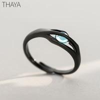 Thaya, оригинальный дизайн, кольца Спящей Красавицы, S925 серебро, ручной работы, Кристальные кольца для женщин, ювелирное изделие, подарок