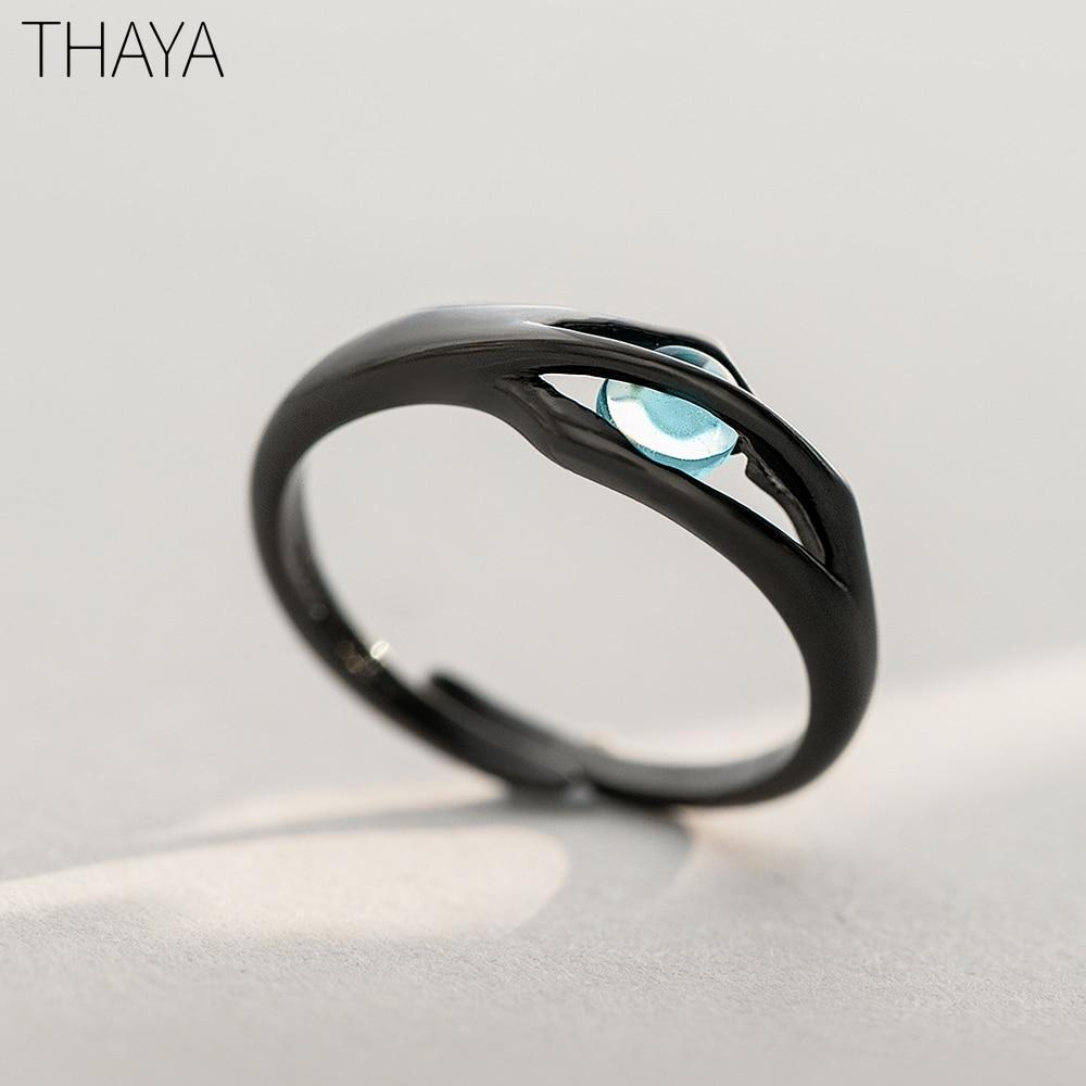 Thaya Original Design Sleeping Beauty Rings S925 Silver Handmade Crystal Rings for Woman Jewelry Gift(China)