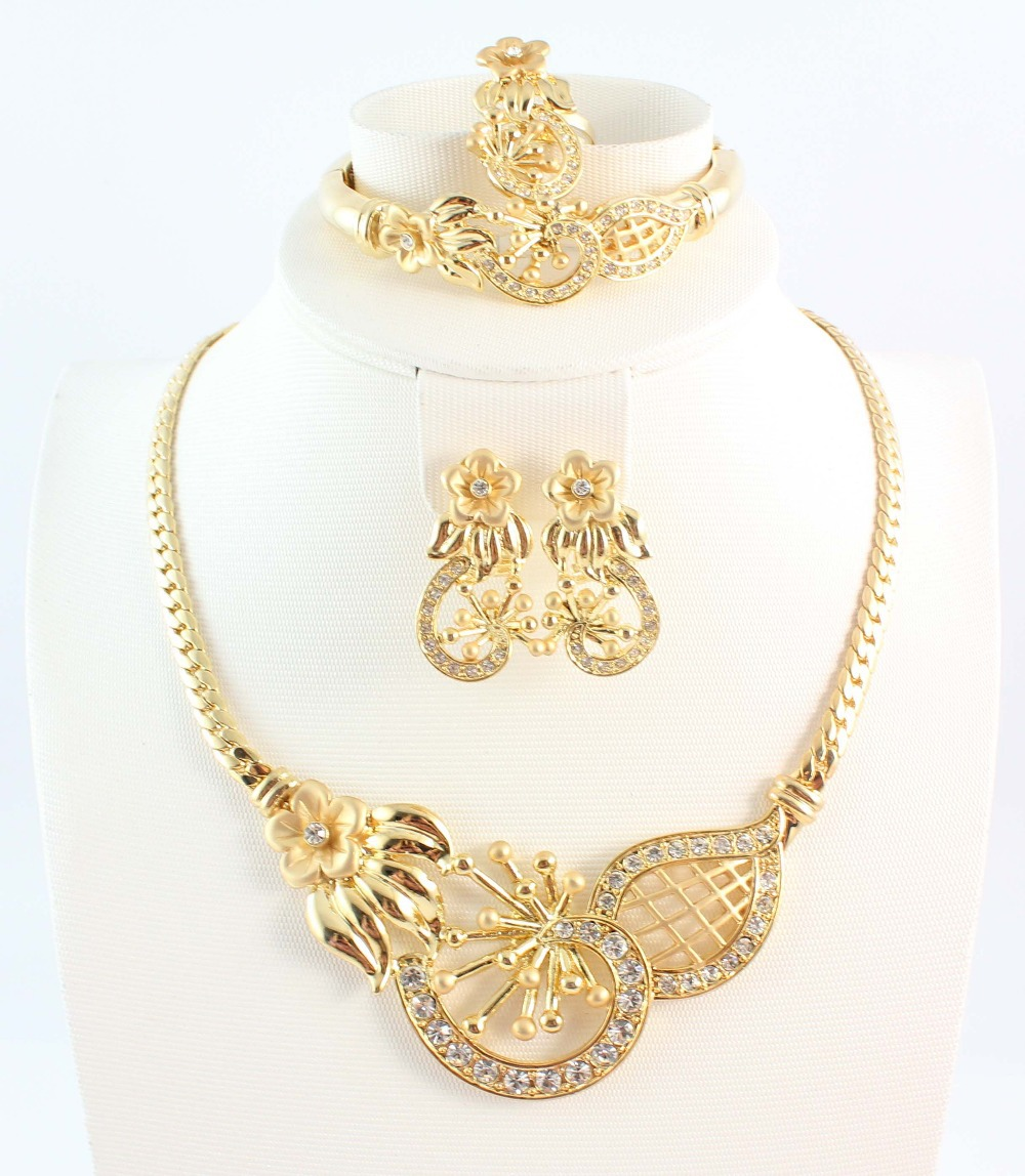 Free Shipping Fashion Top Quality African Jewelery Set Rhinestone Necklace Sets For Women