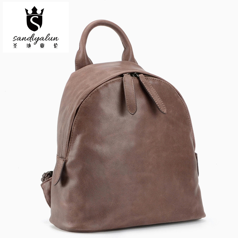 New All-Match Style Top Leather Women Backpacks Student Double Shoulder Bag With Knitting Strap Simple School Bags For Teenagers makegood us au 4 gang 1 way smart switch crystal glass panel touch light switch wireless remote control switch for smart home