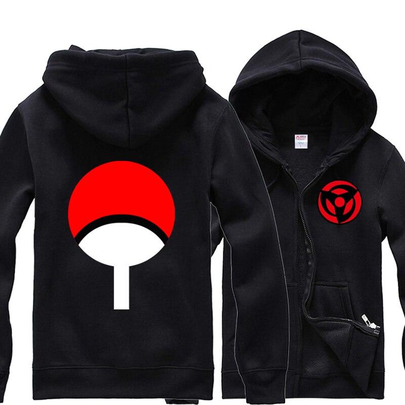 Pulls à capuche pour hommes Anime Naruto Uchiha Clan Kakashi Sharingan polaire sweat à capuche Jersey à manches longues à capuche Zip-up hauts manteau cadeau