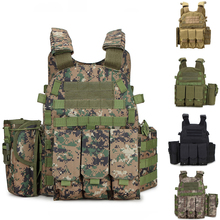 Outdoot Army Combat Training Military Vest 6094 Tactical Hunting Body Armor Airsoft Paintball Vest With Magazine Pouch цена в Москве и Питере
