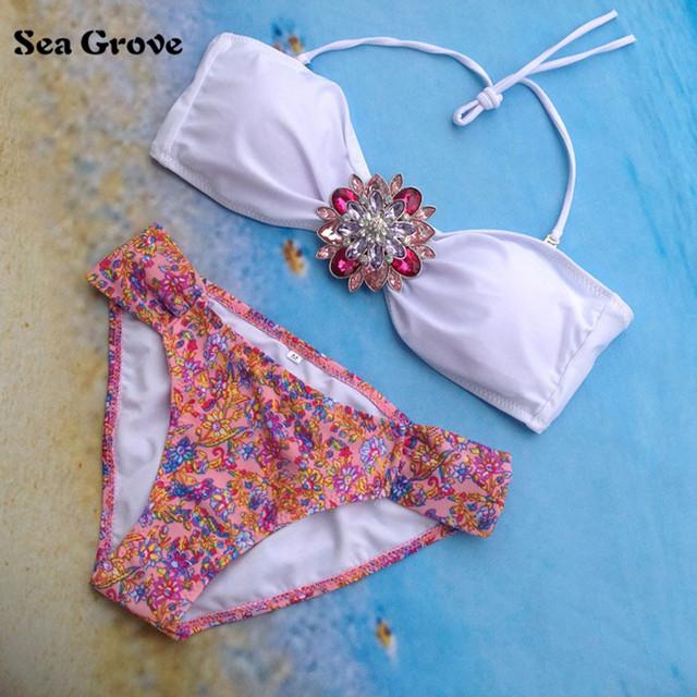 Sexy Rhinestone Bikini Set