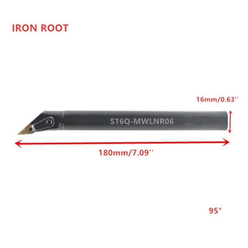 S16Q-MWLNR06 CNC Lathe Internal Turning Tool Holder Boring Bar For WNMG06 Insert