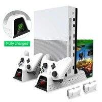Oivo duplo controlador carregador para xbox um resfriamento vertical suporte jogos de armazenamento carregamento docking station para xbox um/s/x console|Suportes| |  -