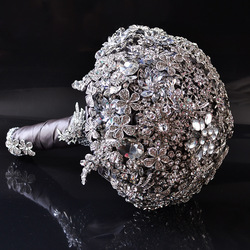 AYiCuthia Luxus Hochzeit Bouquet Kristall Braut Bouquet Hochzeit Brosche Bouquet Jeweled Hochzeit Bouquet S42