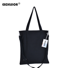 EXCELSIOR Stylish New Canvas Women Bags Casual Tote Zipper Eco-friendly Shoulder Versatile Sack Holiday Beach DIY Handbag G0520