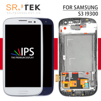 Screen For Samsung Galaxy S3 i9300 LCD Touch Digitizer Sensor Glass Assembly With Frame 4.8'' For S3 Display III i9305 i747 i535