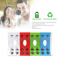 LEISE LS U4C Rechargeable Batteries 4 Slots Smart Charger With LED Indicator USB Cable AA AAA