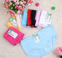 Free shipping! Women's lace underwear  sexy soft panties  100%cotton briefs many different colors XL