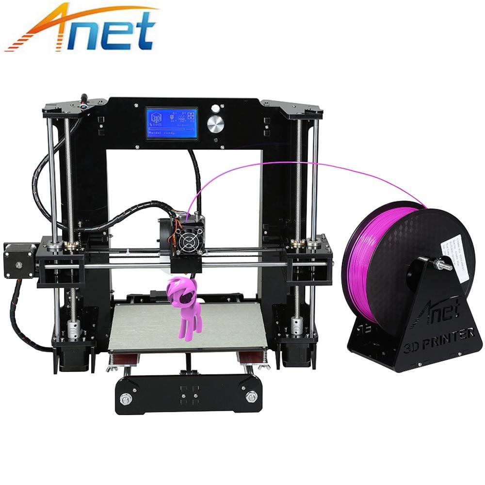 Легко собрать Анет A6 & A8 3D-принтеры большой Размеры Высокая точность RepRap i3 DIY 3D печатная машина + очаг + нити + SD карты + ЖК-дисплей
