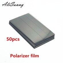 AliSunny 50pcs 편광판 필름 아이폰 6S 7 6 플러스 5S 5G 5 c 전면 LCD 화면 편광 편광 된 빛 필름 부품