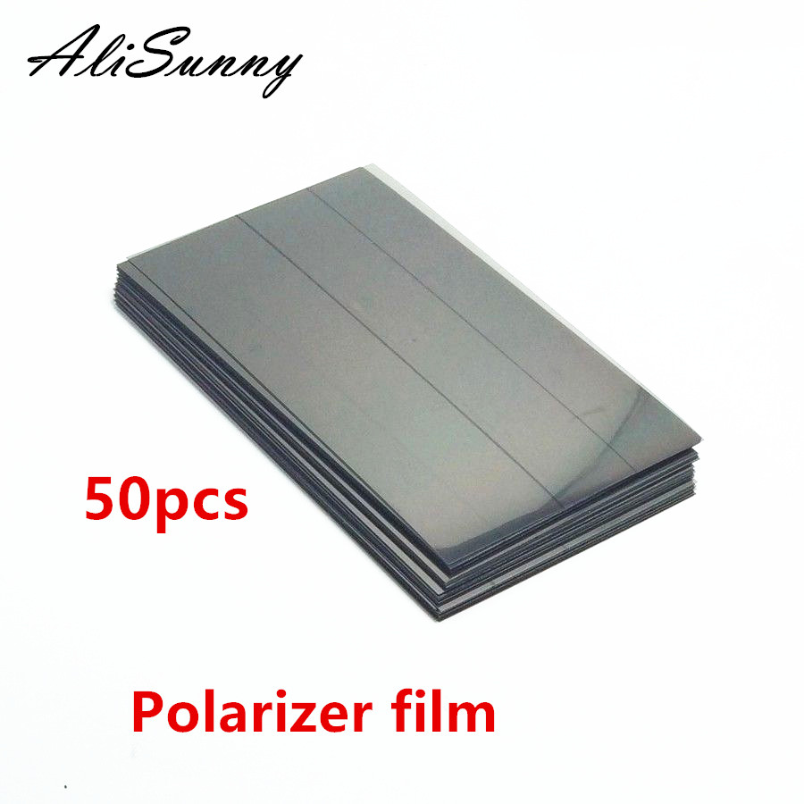 AliSunny 50pcs Polarizer Film for iPhone 6S 7 6 Plus 5S 5G 5C  Front LCD Screen Polarization Polarized Light Film Parts-in Phone Screen Protectors from Cellphones & Telecommunications