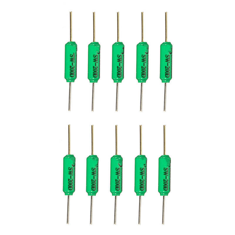 10PCS/lot  SW-200D Vibration Switch Ball Switch Tilt Switch Double Bead Angle Sensor Electronic Components Supplies Sensors
