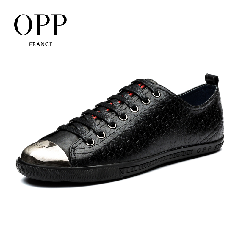 OPP 2017 Autumn Mens Shoes Loafers For Men Cow Leather Flats Shoes Casual Lace-Up Shoes Natural Cow Leather Loafers New footwear