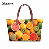 Coloranimal Brand Designer Women Handbag Lady 3D Fruit Orange Strawberry Printing Shoulder Bag Female Sac a Main Femme de Marque