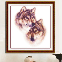 Needlework,DIY DMC Cross stitch,Sets For Embroidery kits,Precise Printed wolf Patterns enough thread Counted Cross-Stitching