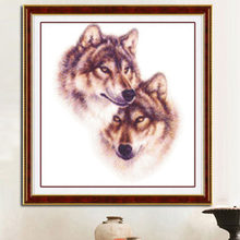 Needlework,DIY DMC Cross stitch,Sets For Embroidery kits,Precise Printed wolf Patterns enough thread Counted Cross-Stitching(China)