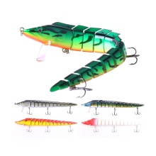 Купить с кэшбэком 1PCS 5 Colors Jerkbait Long Fishing Lures 23CM 46G Wobblers 13 Segments Swimbait Crankbait Hard Bait Fishing Tackle