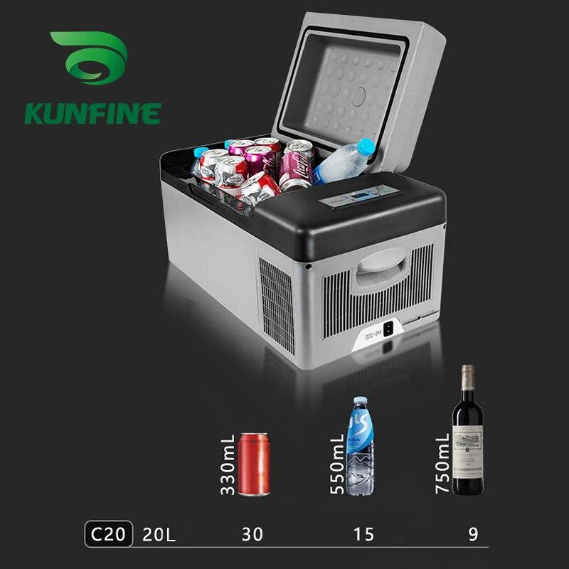 KUNFINE DC 12V24V 110-240V AC Car Refrigerator Multi-Function Fridge Compressor Vehicel Protable Refrigerator Freezer Cooler C20 (6)