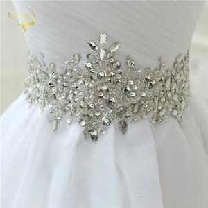 Image 5 - Vendita calda Bianco Vestido De Noiva 2020 di Nuovo Disegno UNA linea Perfetta Cinghia Robe De Mariage Senza Spalline Lace Up abito Da Sposa abiti OW 7799