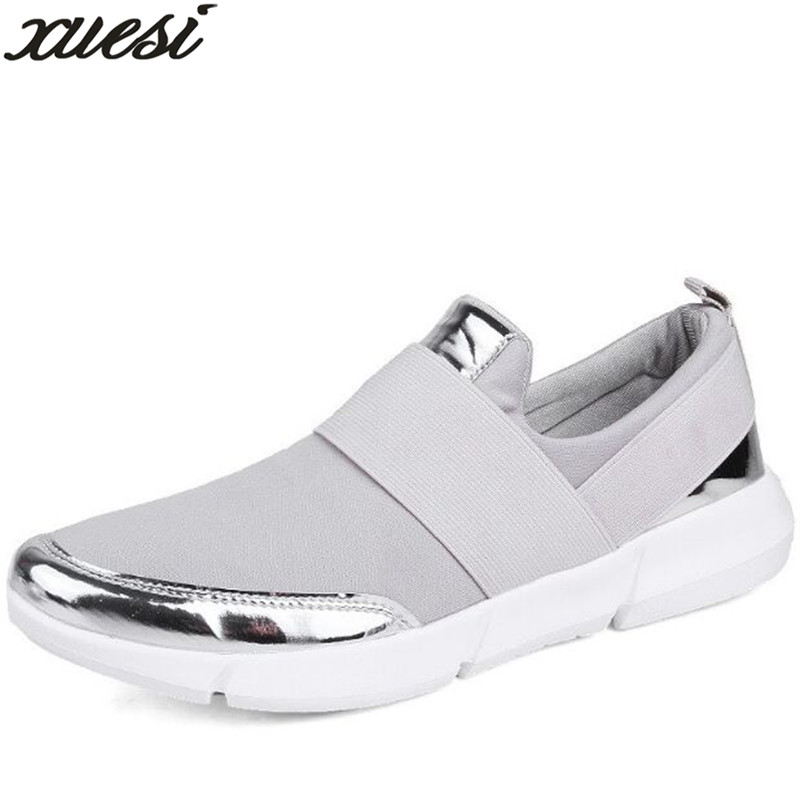 XUESI Brand Breathable Summer Flat Shoes Woman Slip on Casual Shoes New Women Casual loafers Zapatillas Flats Shoes Size 35-42 akexiya casual women loafers platform breathable slip on flats shoes woman floral lace ladies flat canvas shoes size plus 35 43