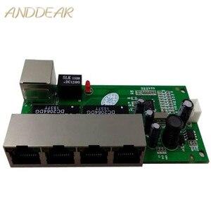 Image 1 - OEM mini interruttore mini 5 port 10/100 mbps switch di rete 5 12 v in ingresso larga di tensione di smart ethernet pcb rj45 modulo con led built in
