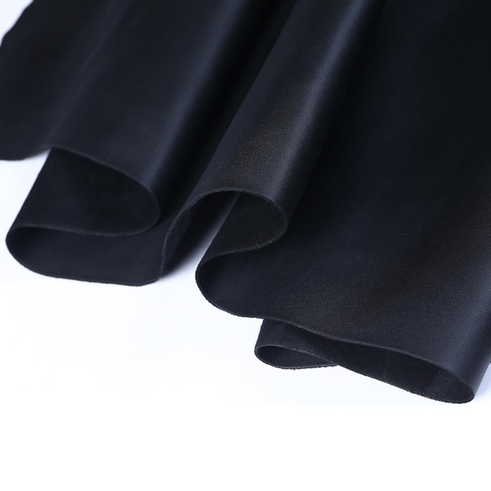 Passion Junetree LEATHER HIDES COW SKINS Black Thick Genuine Leather About 2mm Cowhide Black 8 7