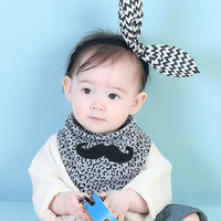 Fashionable Korean Children S Scarves Exquisite Beard Embroidered Boys And Girls Bibs