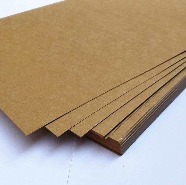 Placeholder 230g A4 Brown Kraft Blank Matte Paper Cardstock Thick Papers Cardboard For Craft Cardmaking 2 To
