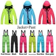 Women Ski Suit Set Outdoor Sports Ladies Snowboard Clothing 10K Waterproof Windproof Winter Custome Snow Jackets + Pants