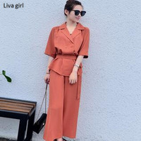 2017 Fashion Summer Women S Set Pant Suit Office Wear Casual Style Lacing Holiday Free Lazy