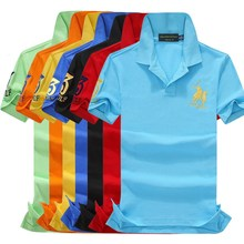 Brand clothing New Men Polo Shirt Business & Casual solid male polo shirt Short Sleeve Breathable S-2XL