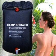 20л сумка для воды складная солнечная энергия с подогревом лагерь ПВХ Душ сумка Открытый Отдых Путешествия Туризм Альпинизм барбекю Пикник хранение воды