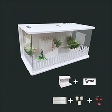 PVC Variety of Size Climbing Box Hedgehog Guardian Reptile Incubator Pet Breeding Cabinet Tortoise Crawling Pet Box