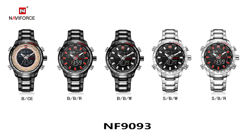 Top Brand Quartz Men Military Sport Watches Mens LED Analog Digital Watch Male Army Stainless Clock Relogio Masculino NAVIFORCE 23