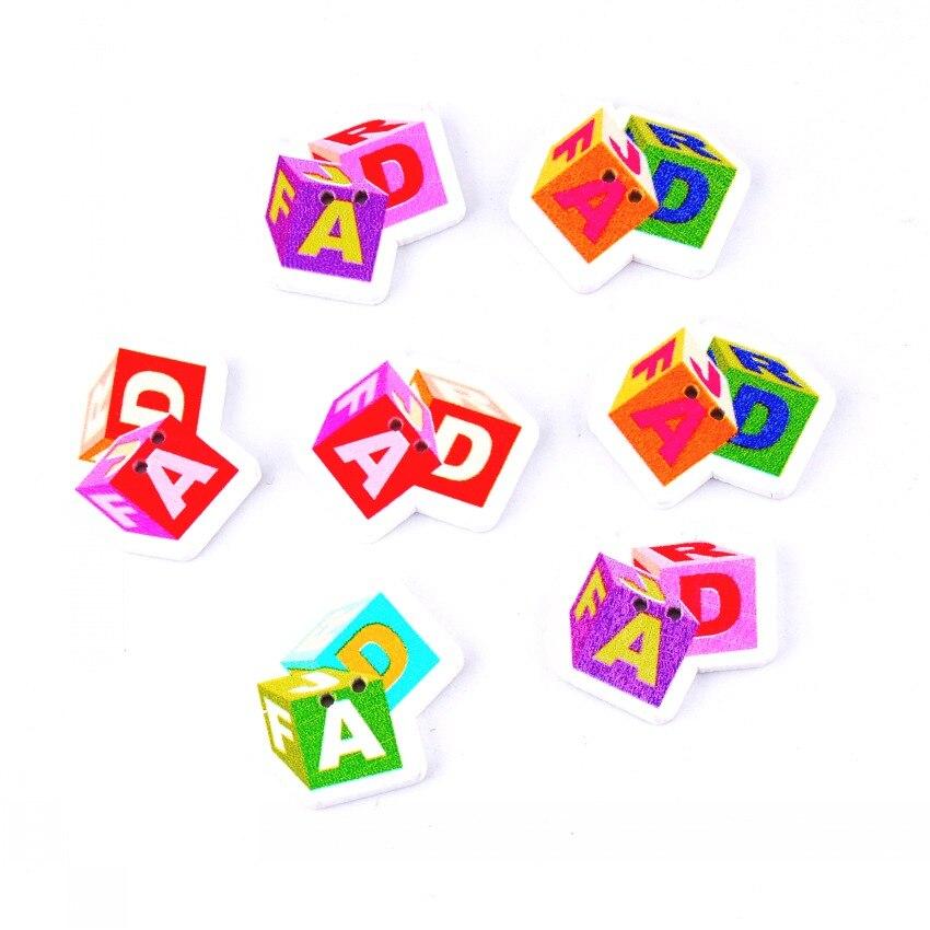 ᗕEnvío libre-Nueva azar 50 unids mezclado 2 agujeros patrón de ...