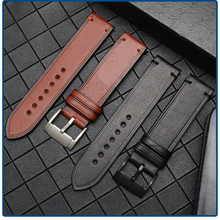 2019 New Arrival Cow Leather Watch band 22mm Watch Accessories Watch Strap Vintage Brown Watchband For IWC iwc pilots watch