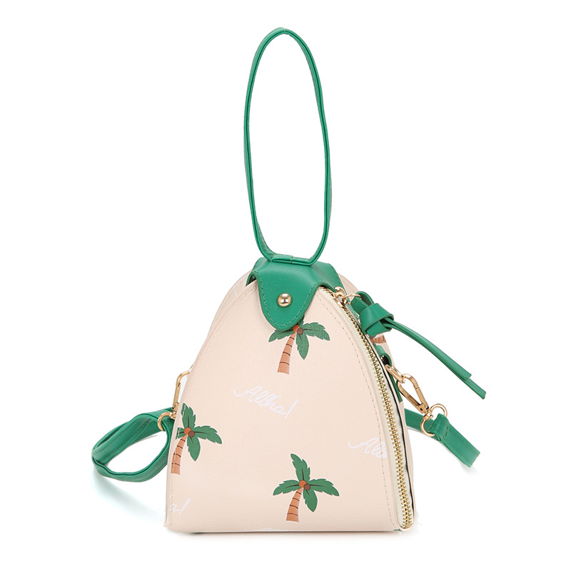 PACGOTH 2017 Fashion PU Leather Zongzi Shaped Day Clutches With Coconut  Tree Ladies Cute Wristlets Shoulder   Crossbody Bags -in Clutches from  Luggage ... 5ee5ff0f43754