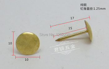 10mm diameter Furniture Hardware bulla nails Decorative Antique Nails Doornail Sofa nail Bronze Nails Wholesale image