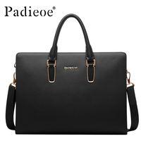 Padieoeo Brand Handbag Men Shoulder Bags Genuine Leather Casual Briefcase Cowhide Messenger Bag Men S Business