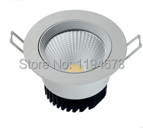 Free Shipping 10w Cob Led Down Light Lamp Led Recessed Indoor Bathroom Bulb With Led Driver