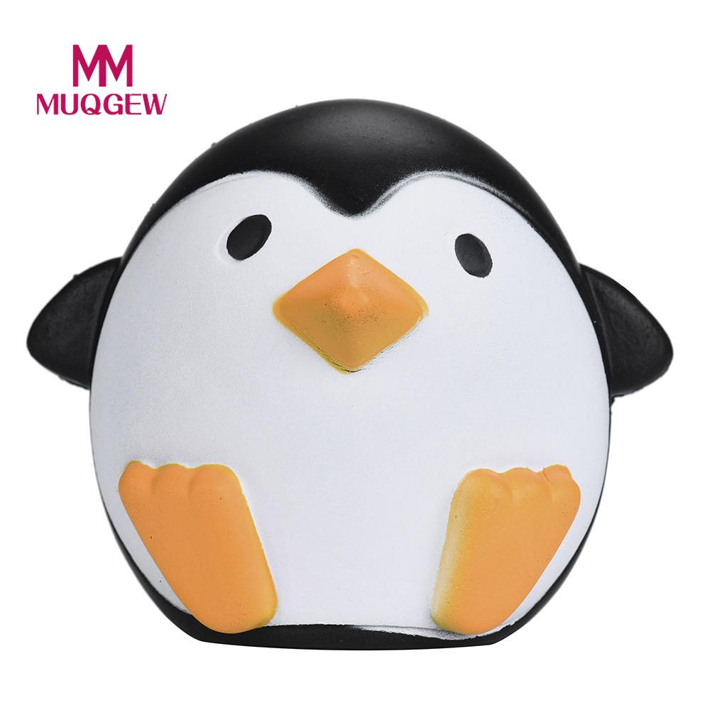 MUQGEW Brand Cute Artificial Squishy Penguin Shape Cream Scented Slow Rising Relieves Stress Anxiety Toy for Child Adult Anxiety