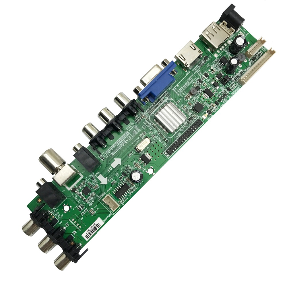 Image 3 - 15 32 inch Universal digital TV board support DVB T2/T/C russian language LCD TV Controller Driver Board 366316-in Integrated Circuits from Electronic Components & Supplies