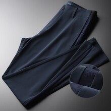 Minglu pantalon pour hommes, modèle dété de luxe avec bande élastique, à la mode, haute qualité, taille élastique, Slim