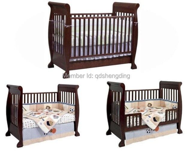 4 1 de madera trineo cuna / cuna / cama de bebé en Cunas de bebé de ...
