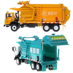 Image 5 - Alloy Diecast Barreled Garbage Carrier Truck 1:24 Waste Material Transporter Vehicle Model Hobby Toys For Kids Christmas Gift