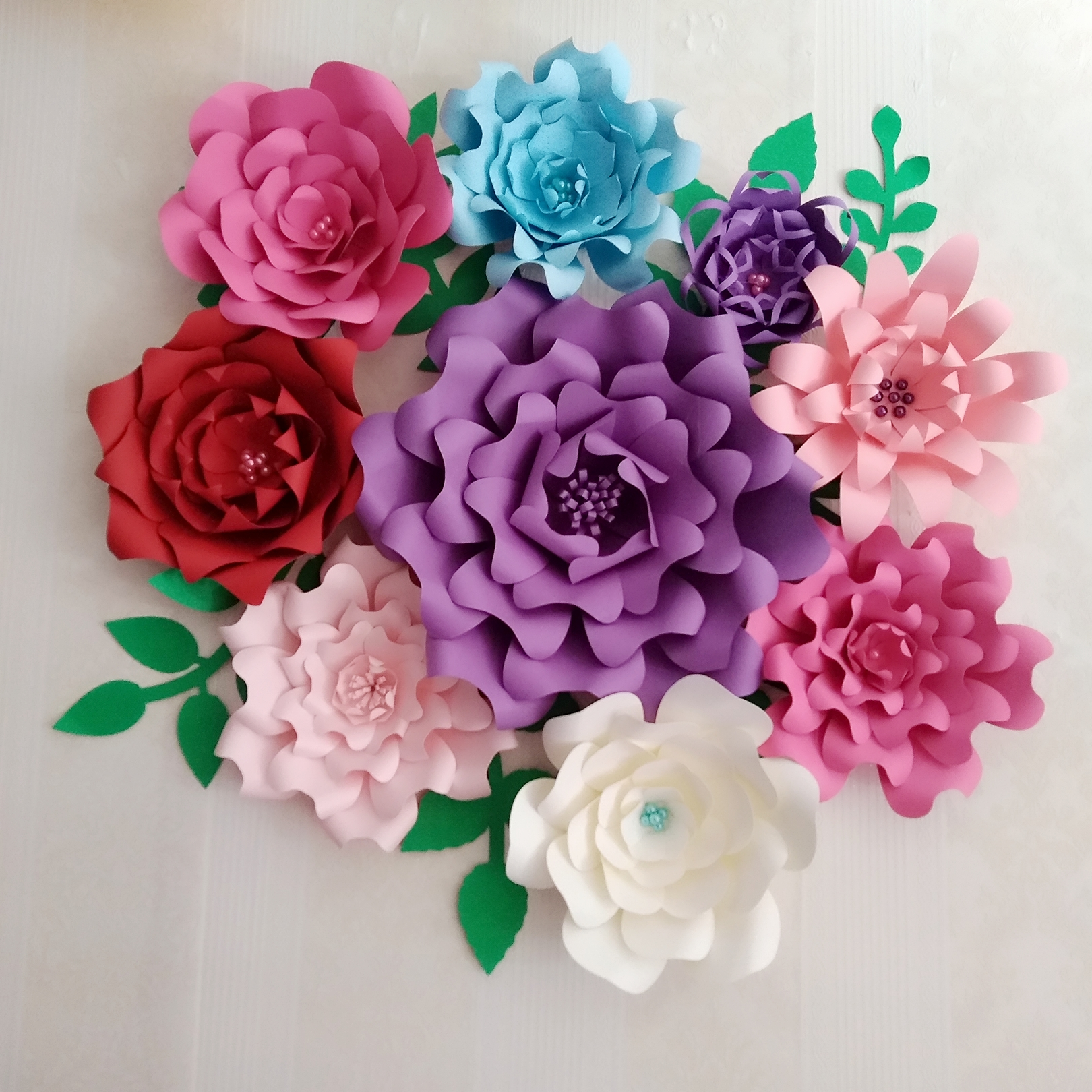 Aliexpress Buy 2018 Creative Giant Paper Flowers 9pcs Leaves